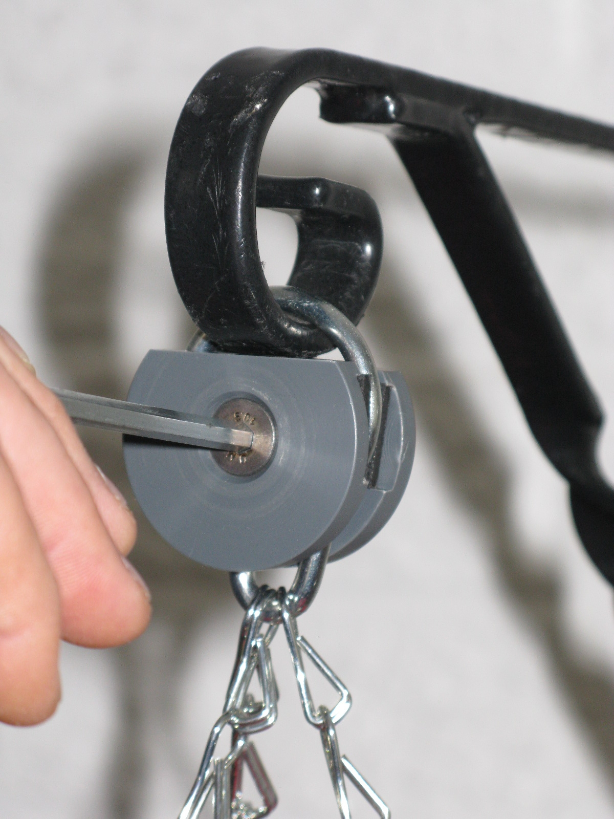 Basket-Geni locks your hanging baskets in place